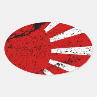 Rising Sun Oval Sticker