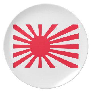 rising sun dinner plates