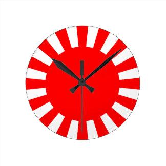 Rising Sun Round Clock
