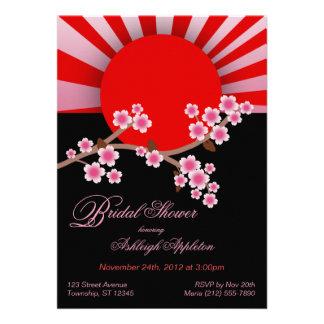 Rising Sun Sakura Bridal Shower Invitations