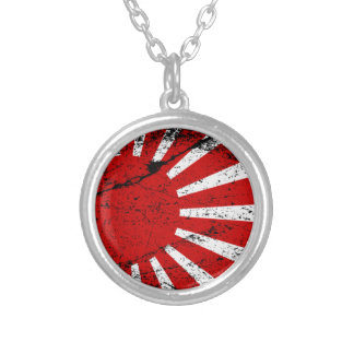 Rising Sun Silver Plated Necklace