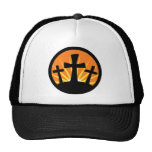 Rising Sun - Three Crosses Trucker Hat