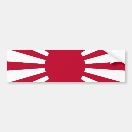 Rising Sun War Flag of the Imperial Japanese Army Car Bumper Sticker