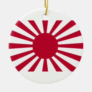 Rising Sun War Flag of the Imperial Japanese Army Ceramic Ornament