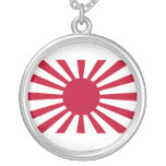 Rising Sun War Flag of the Imperial Japanese Army Necklaces