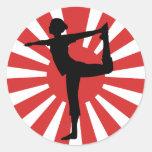 Rising Sun Yoga #1 Dancer Classic Round Sticker