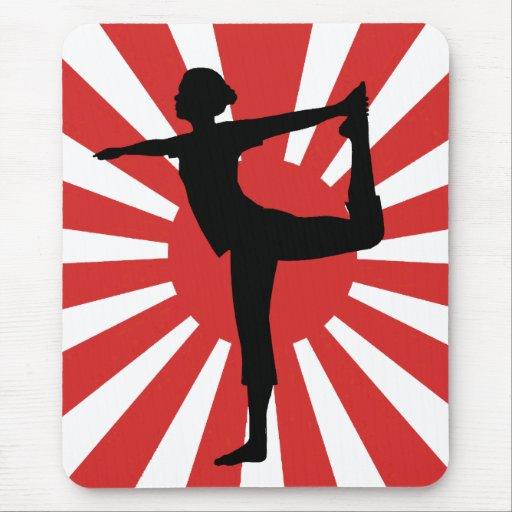 Rising Sun Yoga #1 Dancer Mouse Pads