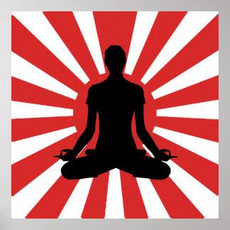 Rising Sun Yoga 4 Meditation Poster