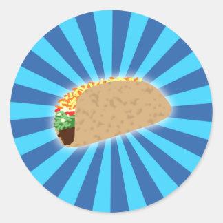 Rising Taco Classic Round Sticker
