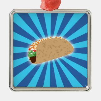 Rising Taco Metal Ornament