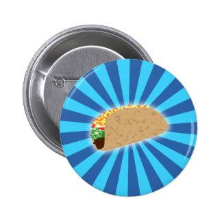 Rising Taco Pinback Button
