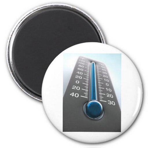 Rising Temperature Thermometer 2 Inch Round Magnet