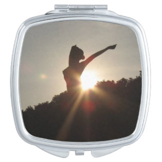 Rising With the Setting Sun Compact Makeup Mirror