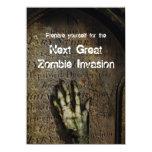 "Rising Zombie Halloween Party Invitation 4.5"" X 6.25"" Invitation Card"