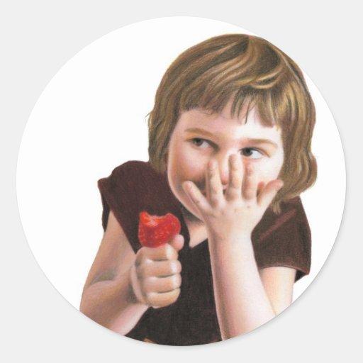 Risitas de niña por la anecdotario tirolés pegatina redonda