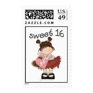risitas femeninas del ♥ del dulce 16 del ♥ sellos