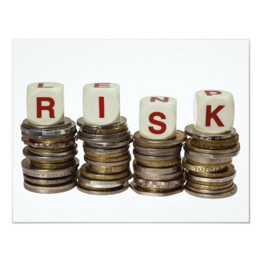 """Risk 4.25"""" X 5.5"""" Invitation Card"""