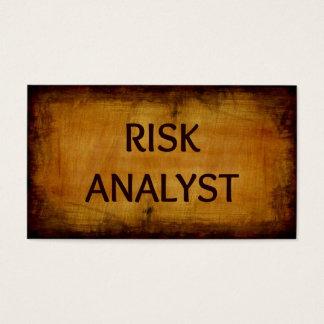 Risk Analyst Wood Grain Business Card