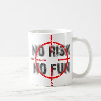 risk and fun classic white coffee mug