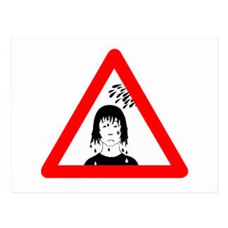 Risk for Splash Sign, Austria Postcard