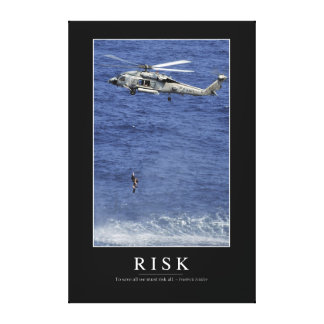 Risk: Inspirational Quote 1 Stretched Canvas Print