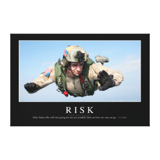 Risk: Inspirational Quote 2 Canvas Prints