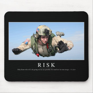 Risk: Inspirational Quote 2 Mouse Pad
