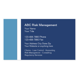 Risk Management Business Cards