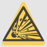 RISK OF EXPLOSION TRIANGLE STICKER