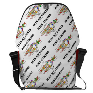 Risk-Taking Is In My Genes DNA Replication Humor Messenger Bag