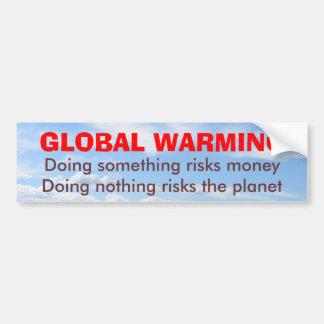 Risks of Global Warming bumper sticker