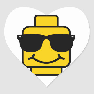 Risky Business Brick Head Heart Sticker