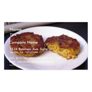 Risotto Cakes On Plate Business Card