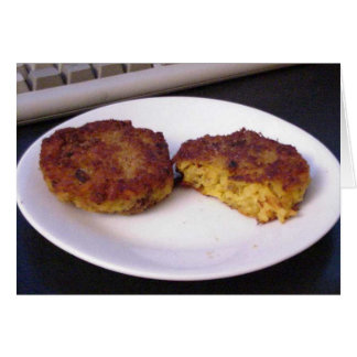Risotto Cakes On Plate Card