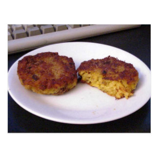 Risotto Cakes On Plate Postcard