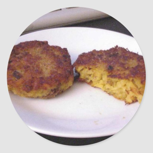 Risotto Cakes On Plate Round Sticker