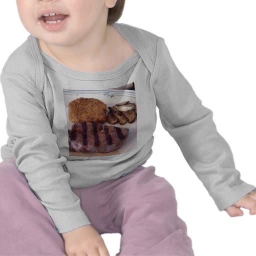 Risotto del filete de la acción de gracias camisetas