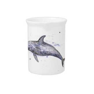 Risso Dolphin Illustration Drink Pitcher
