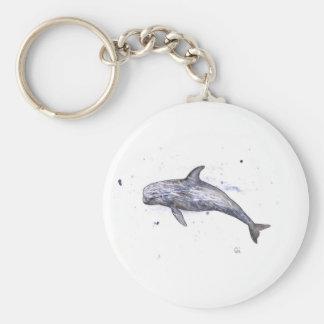 Risso Dolphin Illustration Keychain