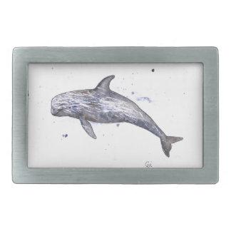 Risso Dolphin Illustration Rectangular Belt Buckle