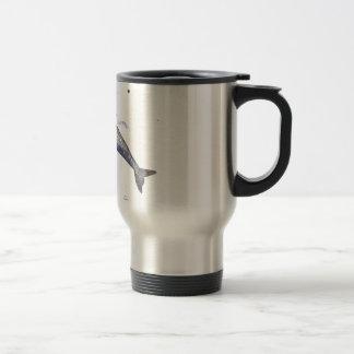 Risso Dolphin Illustration Travel Mug