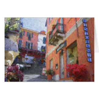 """Ristorante Bilacus, Bellagio"" Greeting Card"