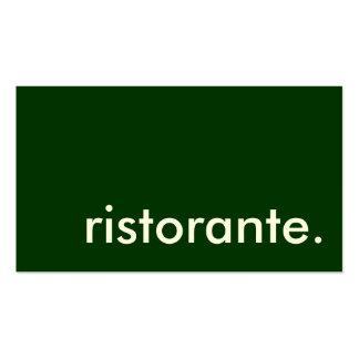 ristorante. business card templates