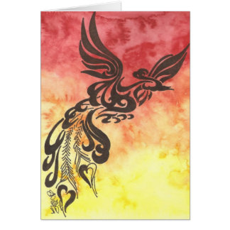 Riswe of the Phoenix Greeting Card