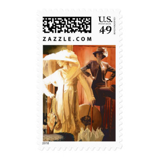"""""""Rita and Katrina"""" New Orleans Watercolor Postage Stamps"""