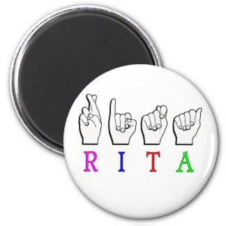 RITA ASL FINGERSPELLED NAME SIGN MAGNET