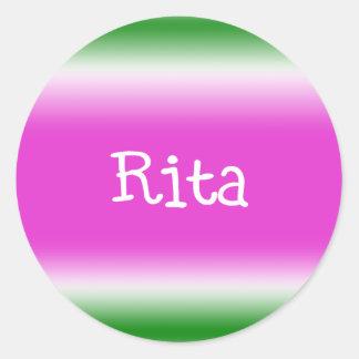 Rita Etiqueta Redonda