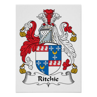 Ritchie Family Crest Poster
