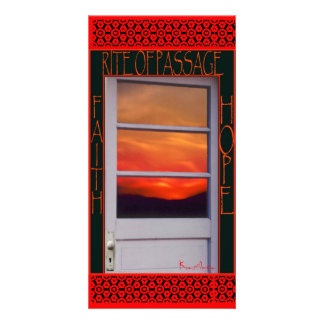 """RITE OF PASSAGE"" CARD CUSTOM PHOTO CARD"