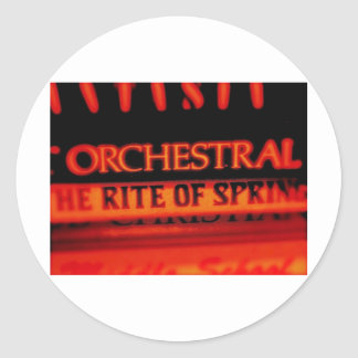 Rite of Spring Music Gifts Classic Round Sticker